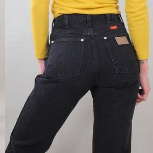 Vintage Wrangler Jeans High Waisted Black Size 9